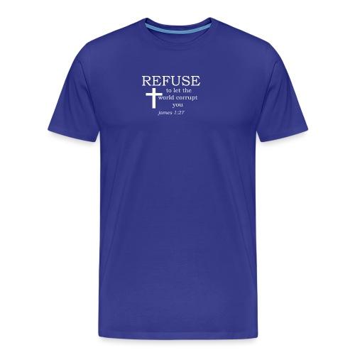 'REFUSE' t-shirt (white) - Men's Premium T-Shirt