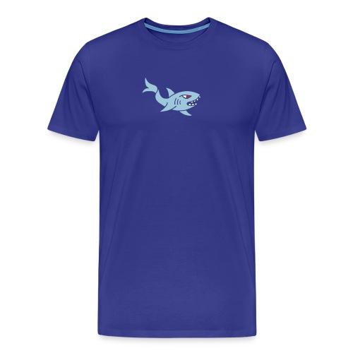 hai shark hungrig hungry fisch white weiß comic - Männer Premium T-Shirt