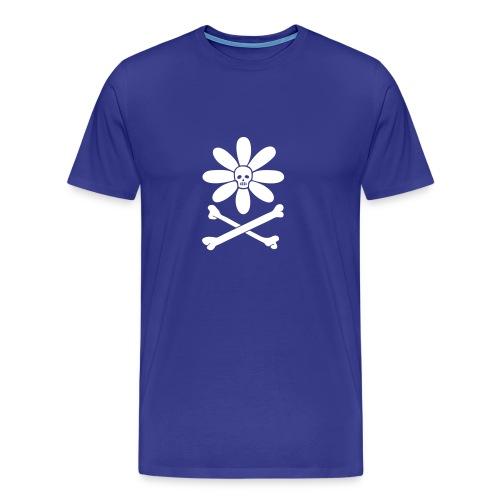 Skull-flower and Crossbones - Men's Premium T-Shirt