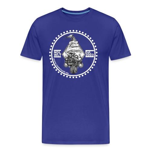 Nadelwelt Logo 2020 Hell BW - Männer Premium T-Shirt