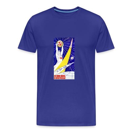 Soviet Space Propaganda 22 jpg - Herre premium T-shirt