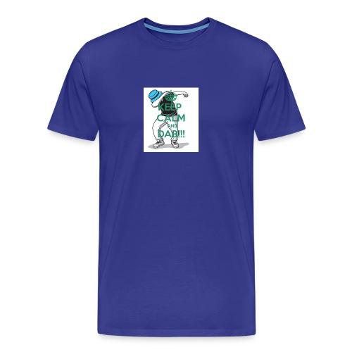Keep calm and dab! - Herre premium T-shirt