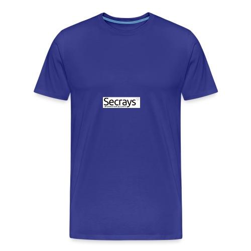 logo musta teksti - Miesten premium t-paita