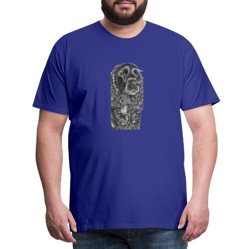 cockerSpaniel black - M - Herre premium T-shirt