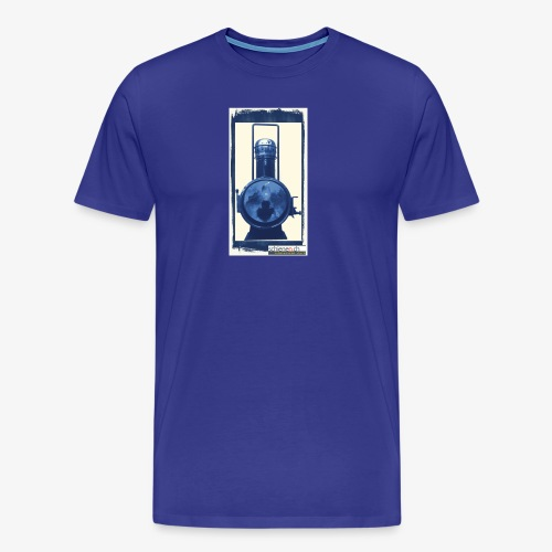 Lok-Laterne mit Logo schienen.ch - Männer Premium T-Shirt