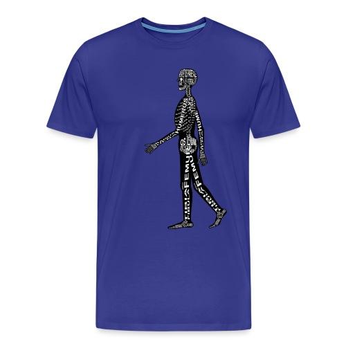 Menschen-Skelett - Herre premium T-shirt