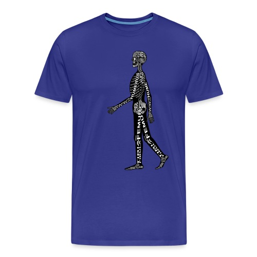 Menschen-Skelett - Miesten premium t-paita