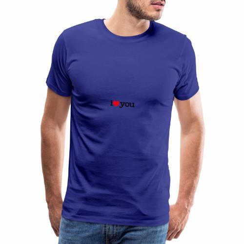 i love you Tengosangreazul - Camiseta premium hombre
