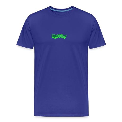 Muffins Text - Premium-T-shirt herr