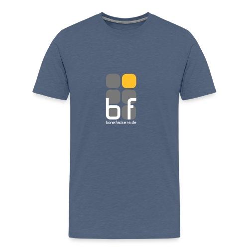 emblem farbig text schwarz - Männer Premium T-Shirt