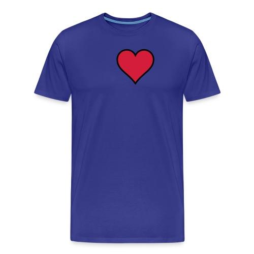 Outline Heart - Men's Premium T-Shirt