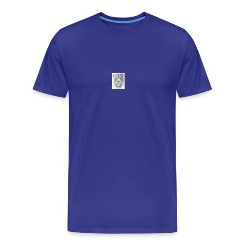 lion sketched png - Men's Premium T-Shirt