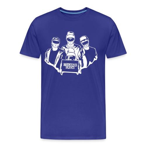 colour crew logo white 11000x9500px png - Männer Premium T-Shirt