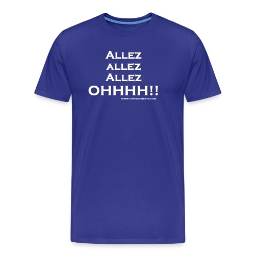 Allez white firew png - Men's Premium T-Shirt