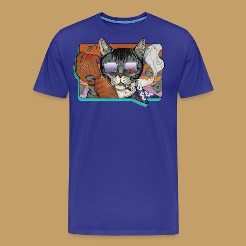 Crime Cat in Shades - Koszulka męska Premium
