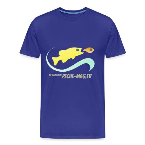 logo Peche-Mag.Fr v4 - T-shirt Premium Homme