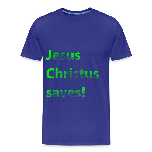 Jesus Christus saves! - Männer Premium T-Shirt