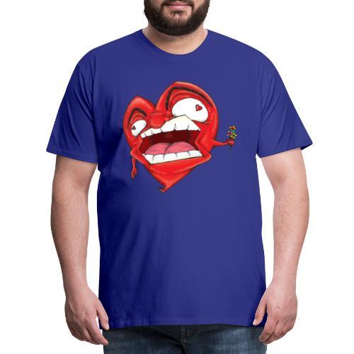 Chapow Hart - Mannen Premium T-shirt