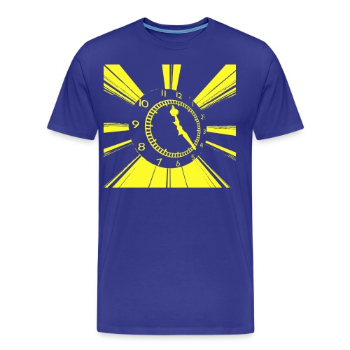 clock yelllow - Men's Premium T-Shirt