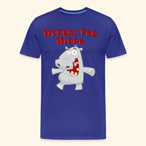 Toddlers & Kids Happy Hippo T Shirt - Men's Premium T-Shirt