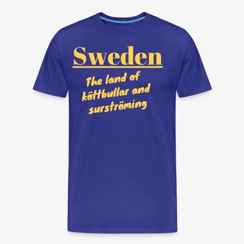 Landet av köttbullar - Premium-T-shirt herr