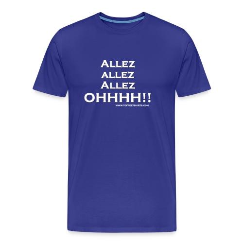 Allez white firew png - Men's Premium T-Shirt