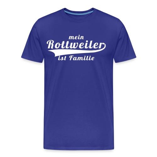 Rottweiler Mein Hund ist Familie png - Männer Premium T-Shirt