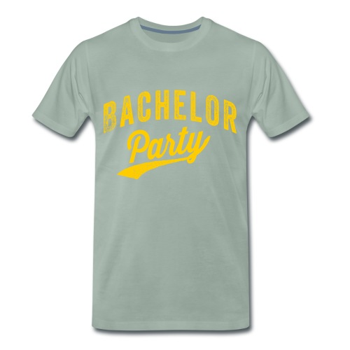 Bachelor Party geel - Mannen Premium T-shirt