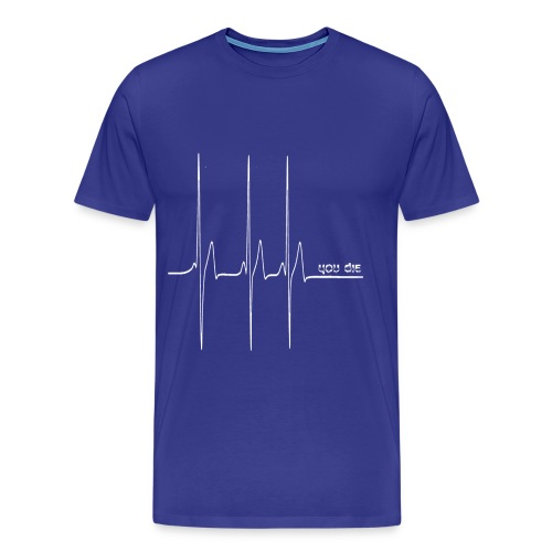 Signal Mort 1 blanc grd png - T-shirt Premium Homme