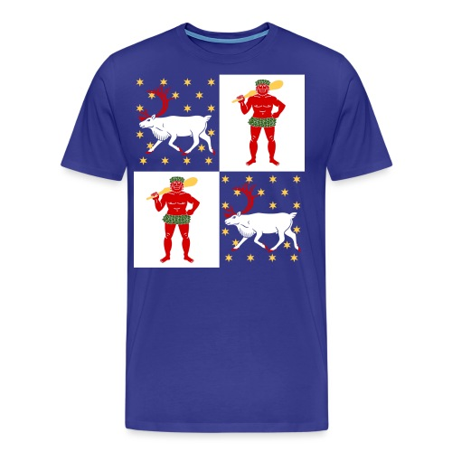 Norrbotten Stor - Premium-T-shirt herr