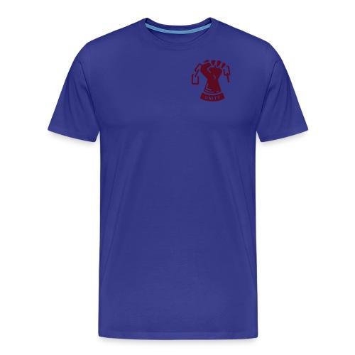 retro badge fist only unity - Men's Premium T-Shirt
