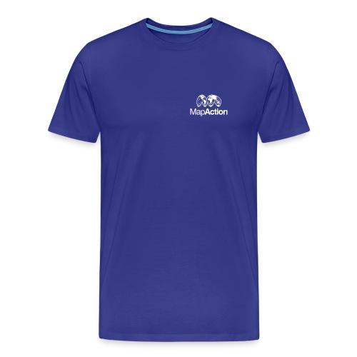 MapAction White on Tranparent - Men's Premium T-Shirt