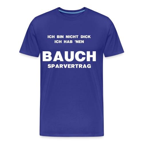 Bauchsparvertrag - Männer Premium T-Shirt