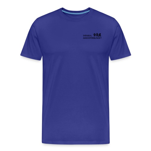 Svenska Aikidoförbundet logo - Premium-T-shirt herr