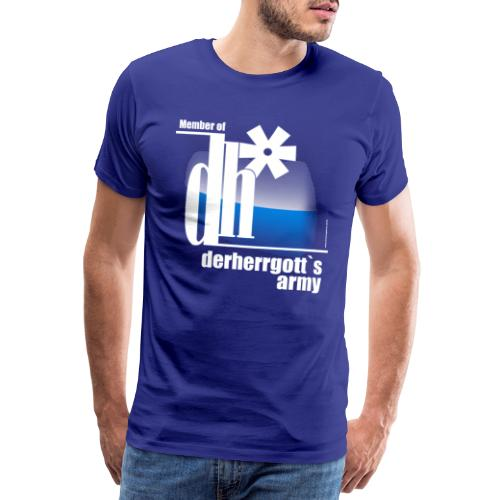 derherrgots_army_kompakt_fuer_blau - Männer Premium T-Shirt