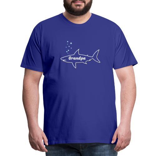 Grandpa shark - Fathers day gift - matching outfit - Männer Premium T-Shirt