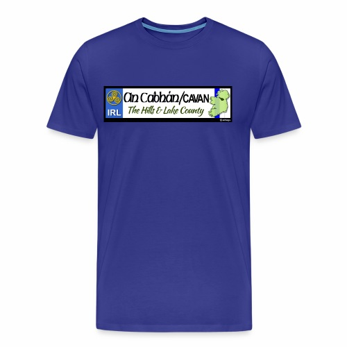 CO. CAVAN, IRELAND: licence plate tag style decal - Men's Premium T-Shirt