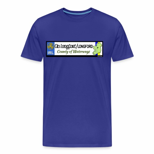 LONGFORD, IRELAND: licence plate tag style decal - Men's Premium T-Shirt