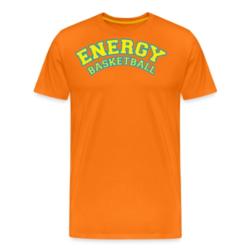 street wear logo giallo energy basketball - Maglietta Premium da uomo