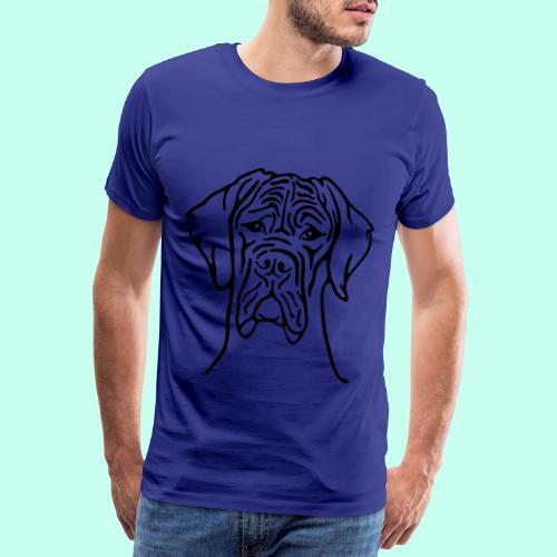 Strichdogge Kopf einfarb - Männer Premium T-Shirt