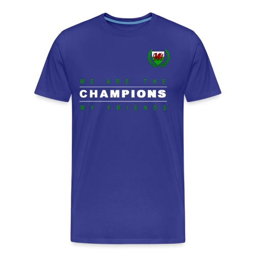 Wales Champions men red+green - Men's Premium T-Shirt