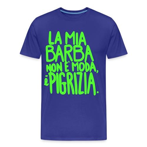 Barba vs Pigrizia - Maglietta Premium da uomo