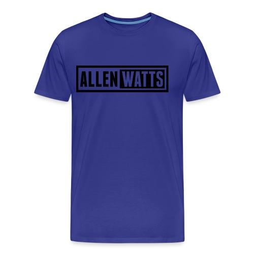 ALLEN WATTS LOGO DARK - Mannen Premium T-shirt