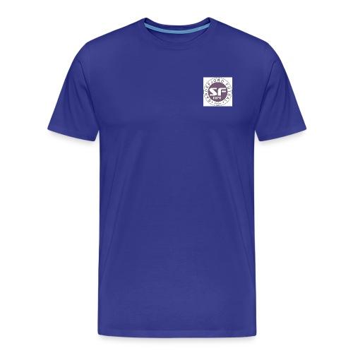Sandefjord Futsal logo - Premium T-skjorte for menn