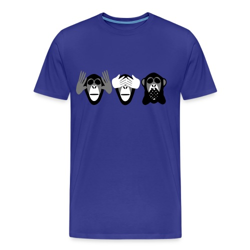 drei affen, nichts hoeren nichts sehen nichts - Männer Premium T-Shirt