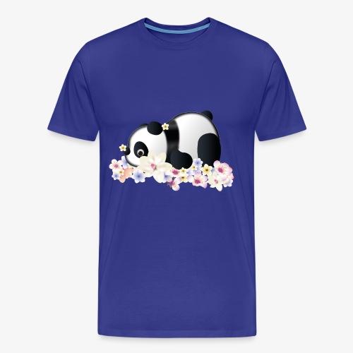 Flower Power Panda - Männer Premium T-Shirt