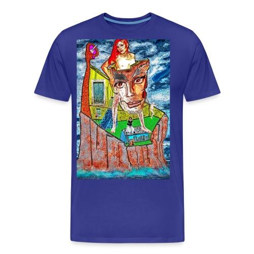 Hinter der Maske - Männer Premium T-Shirt