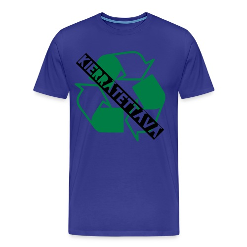 kierrätettävä - Miesten premium t-paita
