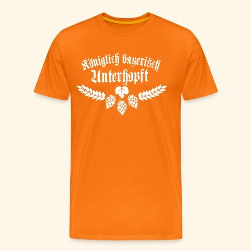 Königlich bayerisch unterhopft - Männer Premium T-Shirt