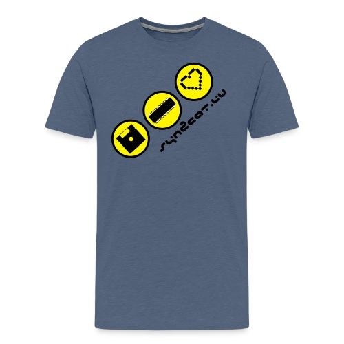 disc chip love (blue edition) - Men's Premium T-Shirt